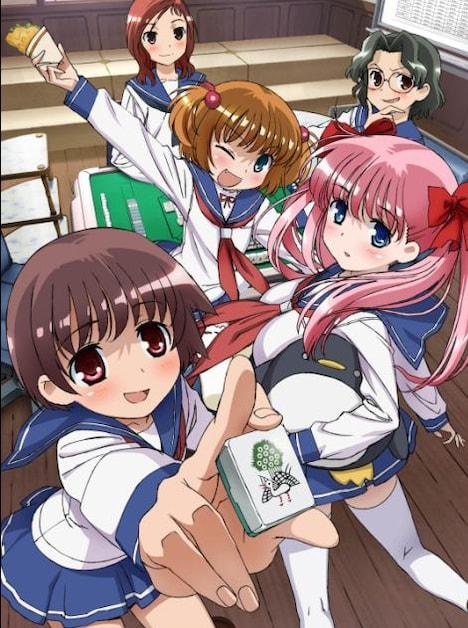 TVアニメ「咲-Saki-」キービジュアル。(©小林 立/スクウェアエニックス・清澄高校麻雀部)