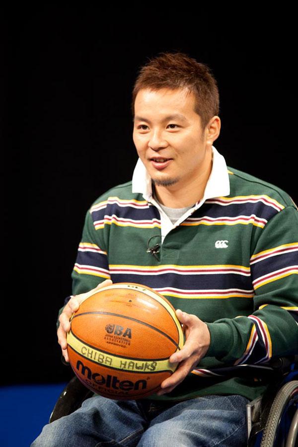 車椅子バスケ日本代表として活躍する京谷和幸。(C)尾形正茂 (SHERPA)