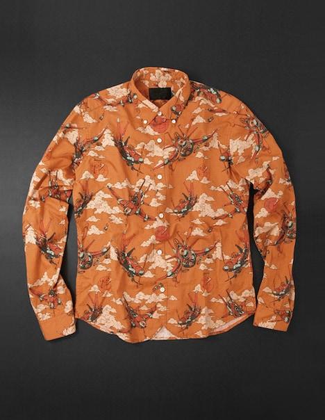 Aerosmith Narancia Ghirga B.D Shirts[orange]。シャツは、丈夫で光沢と吸湿性があるリネン混コットンを使用した、春夏に最適なアイテム。ちなみにイタリアの古語で「Narancia」は「オレンジ」を意味するそう。
