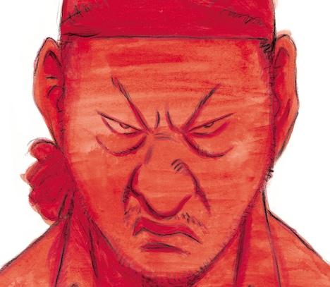 浦沢直樹が描き下ろした、泉谷しげるのベストアルバム「天才か人災か ~泉谷しげるオールタイムベスト~」ジャケット。