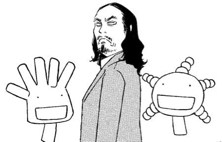 石川が描いた西田が、菌たちと夢の共演を果たした。