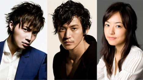 ドラマ「獣医ドリトル」に出演する3人。左から成宮寛貴、小栗旬、井上真央。