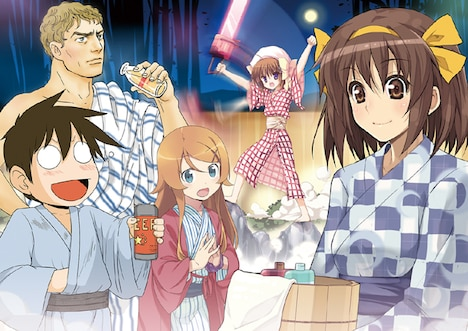 「角川グループコミック祭 2010冬」のキービジュアル。イラストコンセプト=ぷよ イラスト=いけださくら/さっち/ぷよ/ヤマザキマリ/よしたに (C)TSUKASA FUSHIMI/SAKURA IKEDA (C)SHINICHI KIMURA,KOBUICHI,MURIRIN (C)NAGARU TANIGAWA・NOIZI ITO
