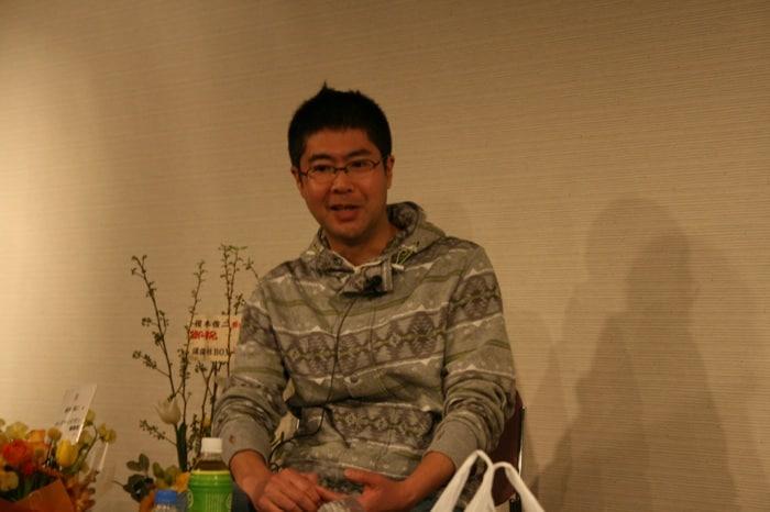吉田戦車。妻の伊藤理佐はすっかり育児で頭がいっぱいで「庭に砂場を作りたい」と言い出し、驚いたそう。