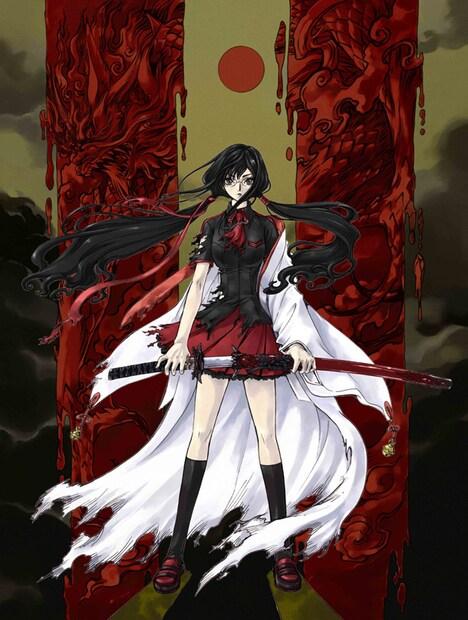 「BLOOD-C」キービジュアル。(C)2011 Production I.G, CLAMP/Project BLOOD-C TV