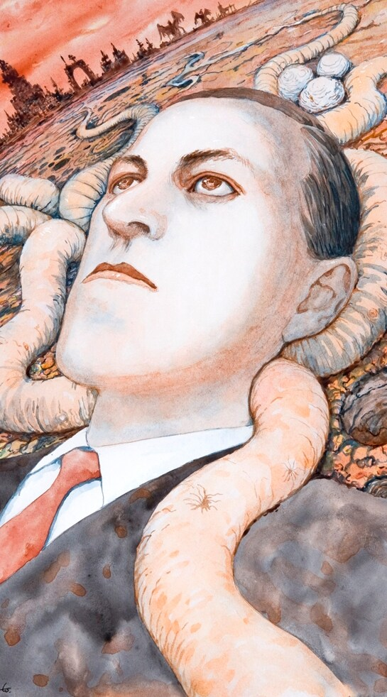 ヴァニラ画廊で展示される伊藤潤二の作品の一部。