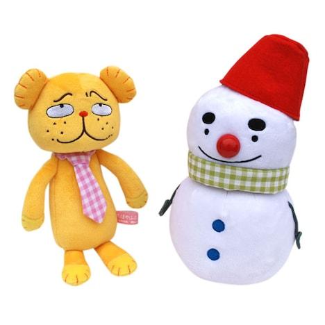 「ぬいぐるみS」ダディベア(左)とスノー丸(右)。価格はそれぞれ1575円。(C)末次由紀/講談社