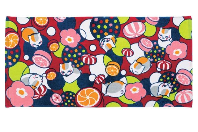 C賞「和菓子なモダンバスタオル」(C)緑川ゆき・白泉社/「夏目友人帳」製作委員会