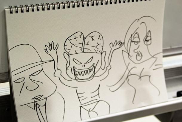 西原理恵子画「妖怪人間ベム」。