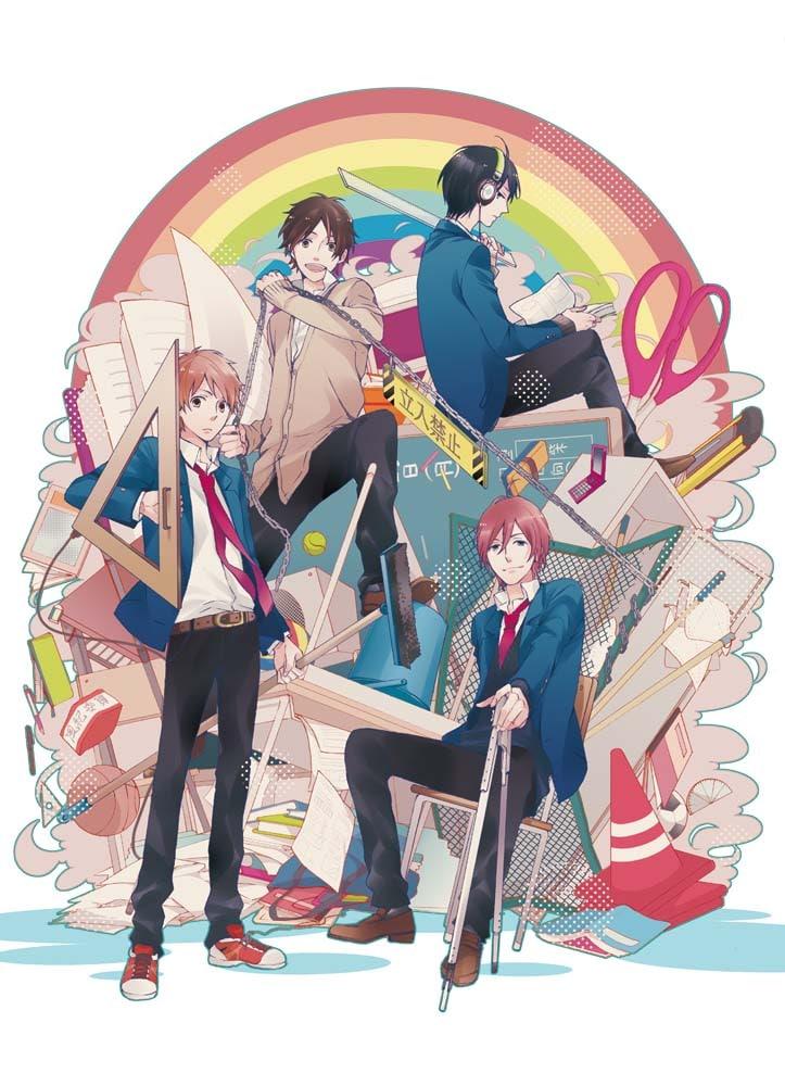 水野美波「虹色デイズ」扉イラスト。