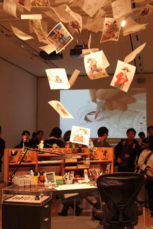 尾田栄一郎の机を再現。