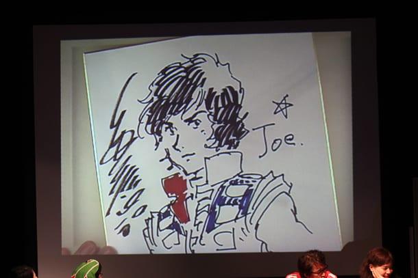 藤田和日郎のリクエストにより、安彦良和が「クラッシャージョウ」をナマ描き。