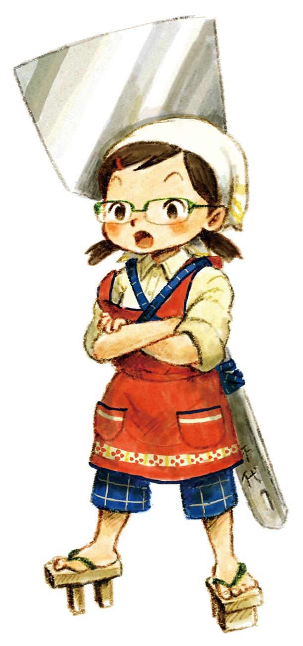木村いこ「ネギ焼きチヨちゃん」カット。