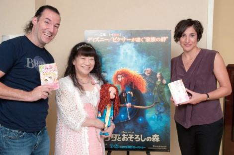 写真左から監督のマーク・アンドリュース、いがらしゆみこ、プロデューサーのキャサリン・サラフィアン。撮影:荒井健
