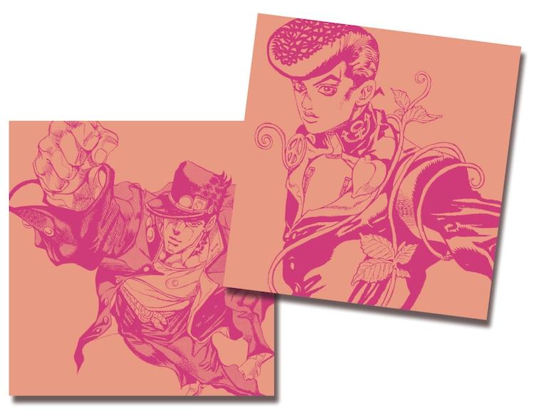 9月20日から24日まで配布される空条承太郎と東方仗助が描かれたCDケース。