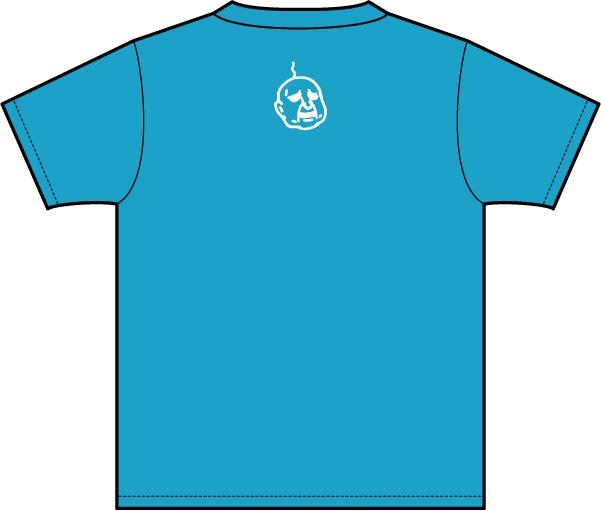 武梨えりがイラストを描いたTシャツ「Everyday」背面(ターコイズ)。