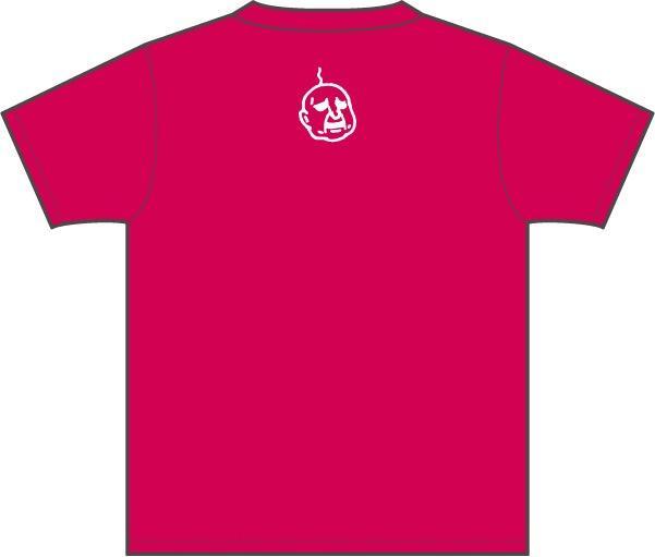 武梨えりがイラストを描いたTシャツ「Everyday」背面(ホットピンク)。