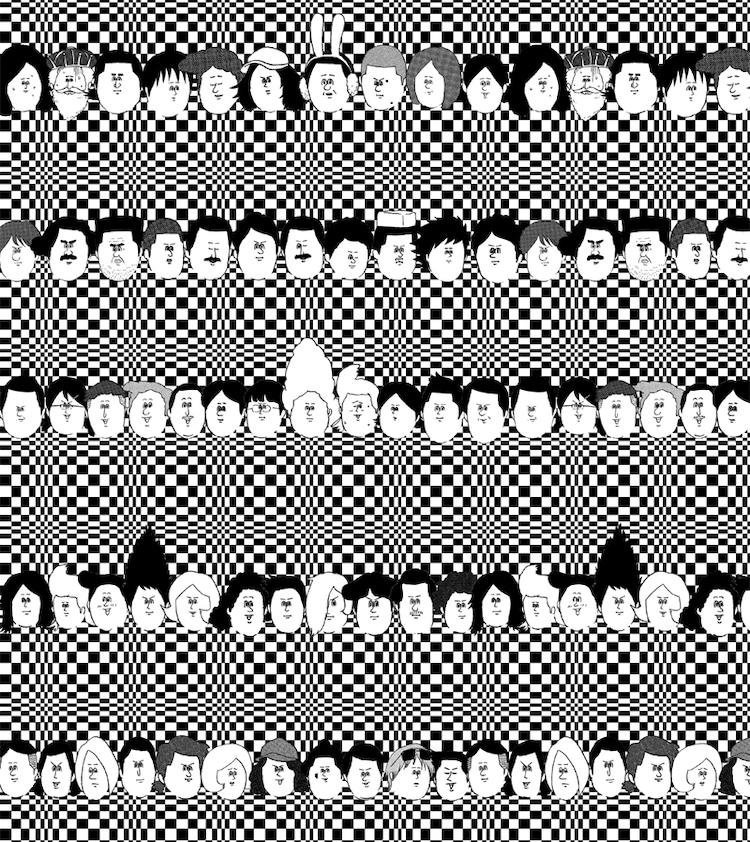 トレンチコートの裏地に使用される地獄のミサワ「カッコカワイイ宣言!」のイラスト。(C)地獄のミサワ/集英社