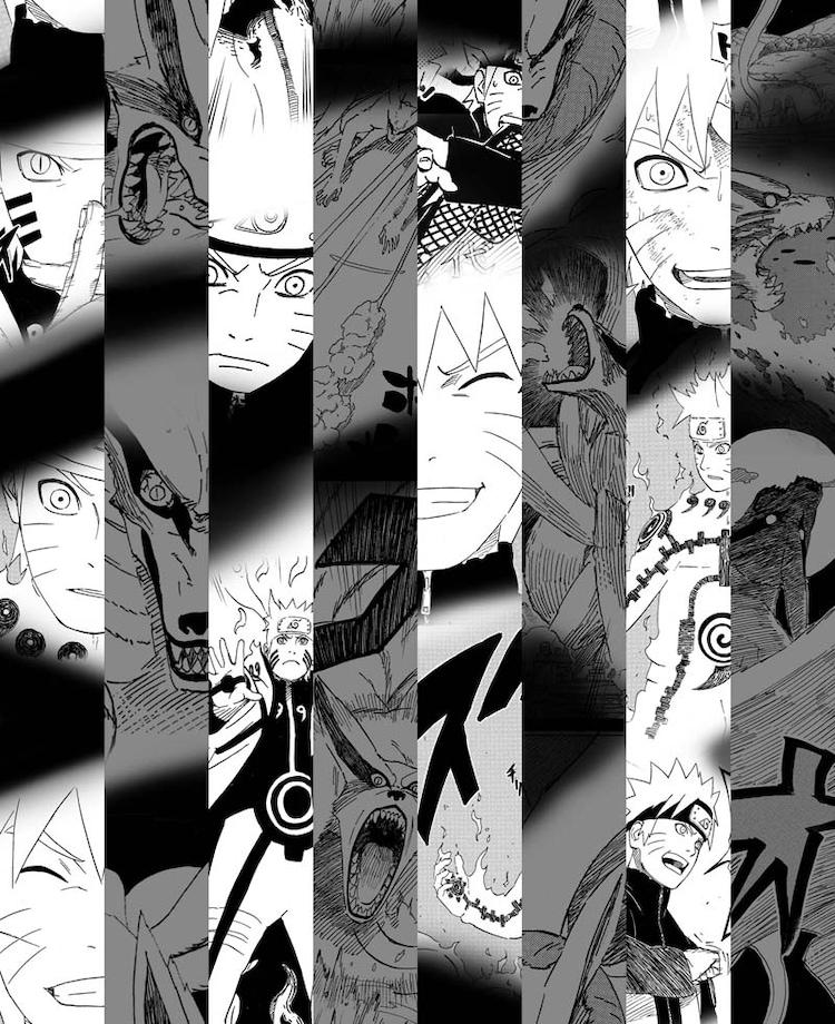 「サイ」のトレンチコート裏地に使用される岸本斉史「NARUTO―ナルト―」のイラスト。(C)岸本斉史/集英社