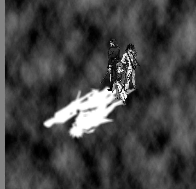 トレンチコートの裏地に使用される和月伸宏「るろうに剣心」のイラスト。(C)和月伸宏/集英社