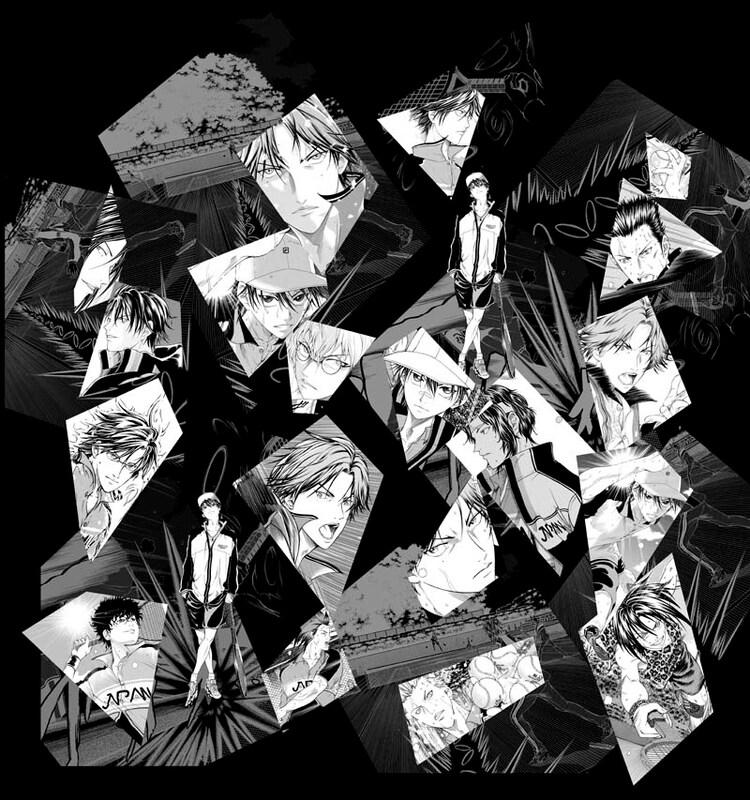 トレンチコートの裏地に使用される許斐剛「新テニスの王子様」のイラスト。(C)許斐 剛/集英社
