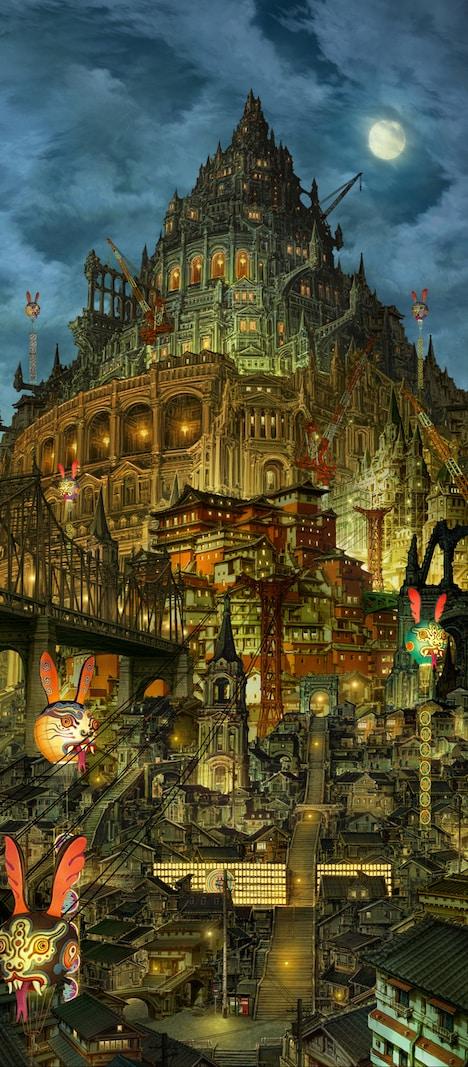 美術監督・木村真二による「青の祓魔師」劇場版の美術ボード。