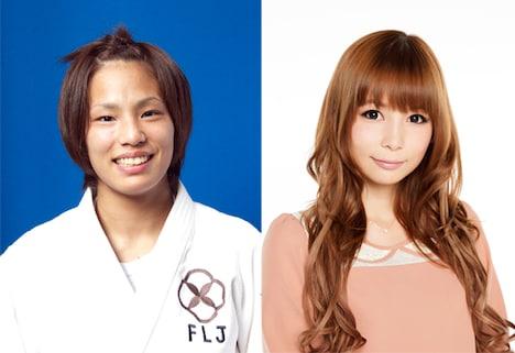 ゲスト声優として映画「DRAGON BALL Z 神と神」に出演する松本薫(左)と中川翔子(右)。