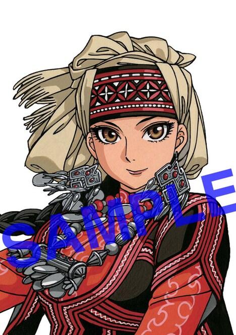 アニメイトでプレゼントされる「乙嫁語り」森薫描き下ろしミニセル画。
