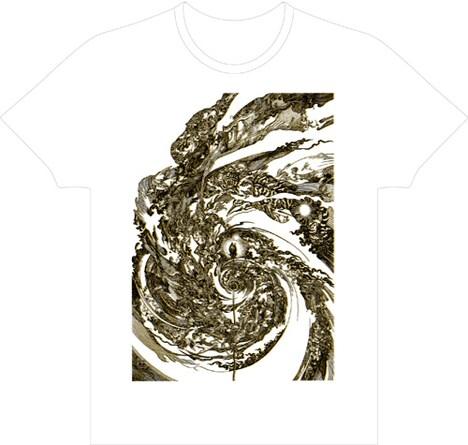 寺田克也Tシャツ(spiral0 ゴールド×ブラック)