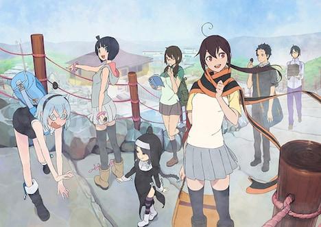 オリジナルアニメの新シリーズ「ツキニナク」のビジュアル。