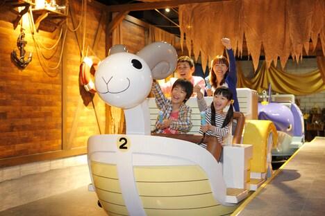 「ソルジャードッグアドベンチャー」では、ミニメリー号に乗って「ONE PIECE」の世界を体験できる。(c)尾田栄一郎/集英社・フジテレビ・東映アニメーション
