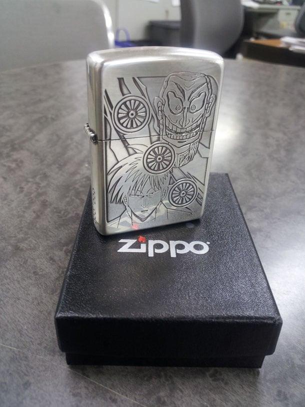 「アカギ」28巻の特装版に付くZIPPOのサンプル。