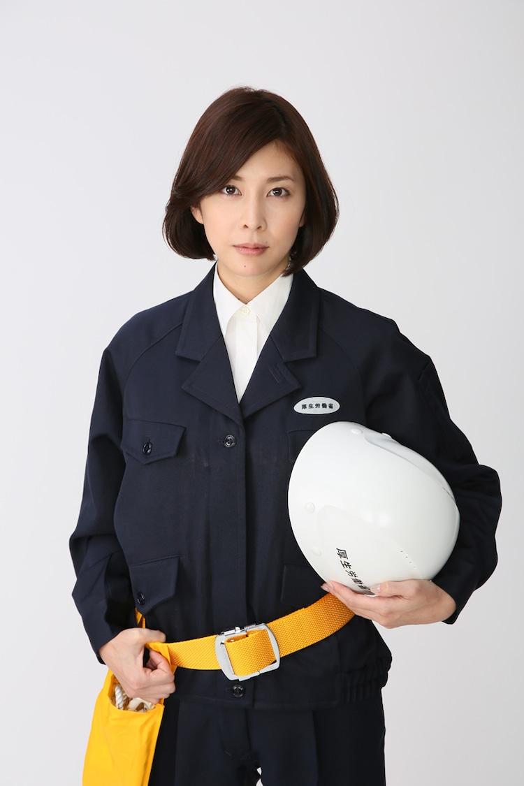 TVドラマ「ダンダリン 労働基準監督官」で段田凛を演じる竹内結子。