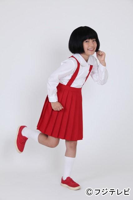 「ちびまる子ちゃん」で3代目まる子を演じる信太真妃。