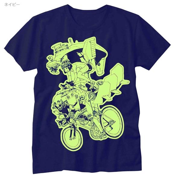 鬼頭莫宏のTシャツ「Ham The Power」(ネイビー)。
