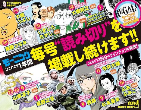 プレミアム読み切りシリーズ「REGALO」の告知ページ