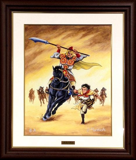 オリジナル版画「西遊妖猿伝・黄風大王」キャンバス仕上げ(限定30エディション)、21万円。※画像は制作中のもので、版画の色調など実際の商品とは異なる場合がある。