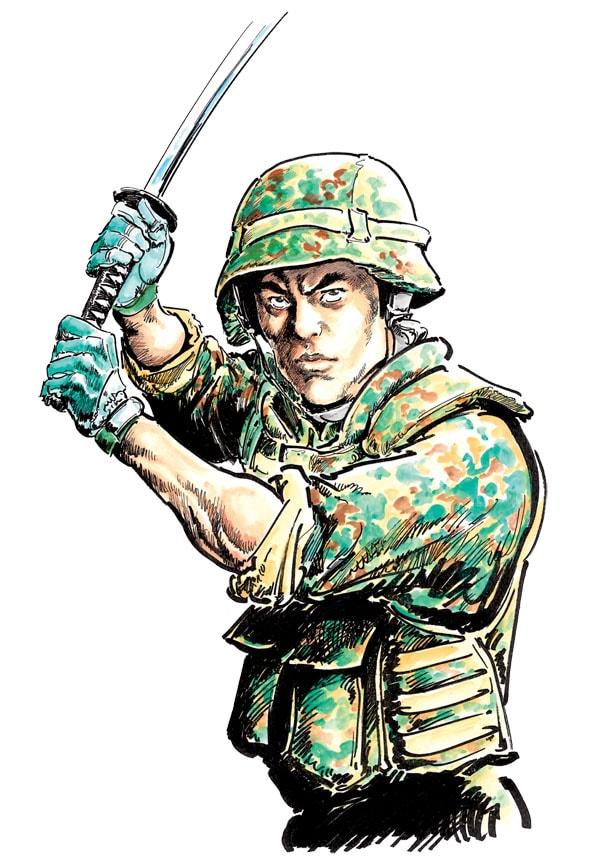 半村良原作による森秀樹「戦国自衛隊」カット