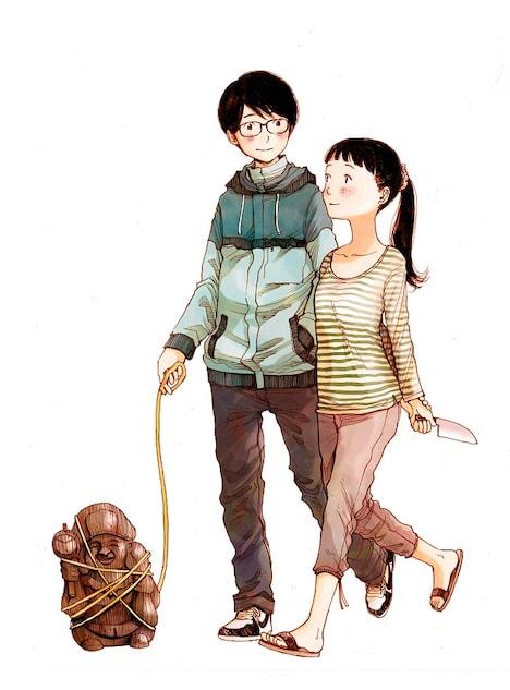 浅野いにおによる新連載「ほのぼの夫婦(仮)」のカット。タイトル・内容については変更になる可能性があるとのこと。