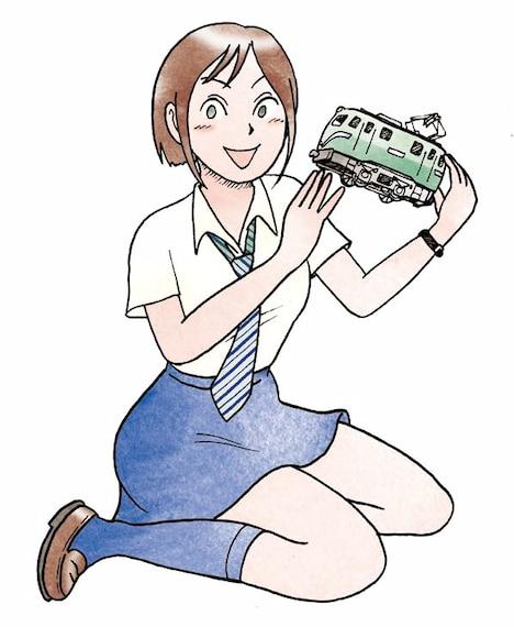池田邦彦の読み切り作品「はやぶさや模型店」のカット。
