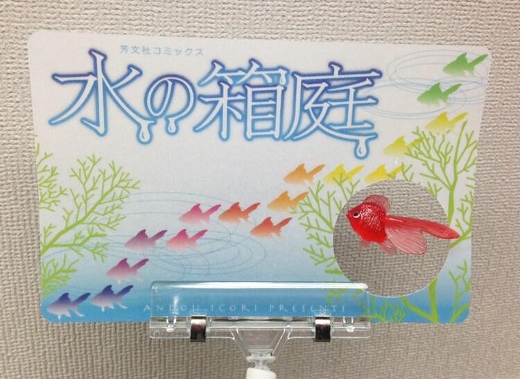 「水の箱庭」1巻の「揺れる金魚POP」。