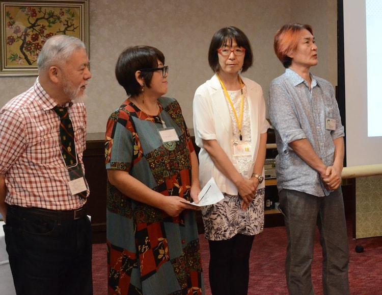 (左から)山田ゴロ、犬木加奈子、つだゆみ、倉田よしみ。