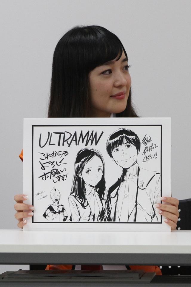 番組には「ULTRAMAN」作者の清水栄一と下口智裕から色紙が贈られた。