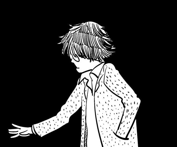 ふみふみこが「オトナの読書感想文」に寄稿した、梶井基次郎「檸檬」のイラスト。