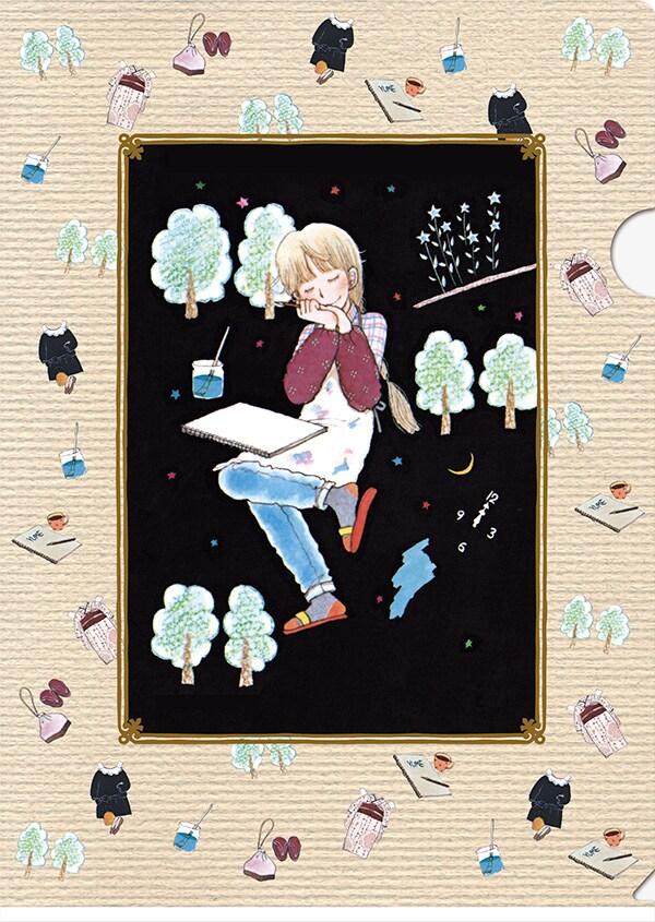 「こんぺい荘のフランソワ」のクリアファイル。(c)陸奥A子/集英社・りぼん