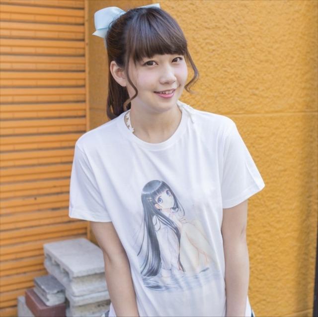和遥キナがイラストを手がけたパンチラTシャツ。