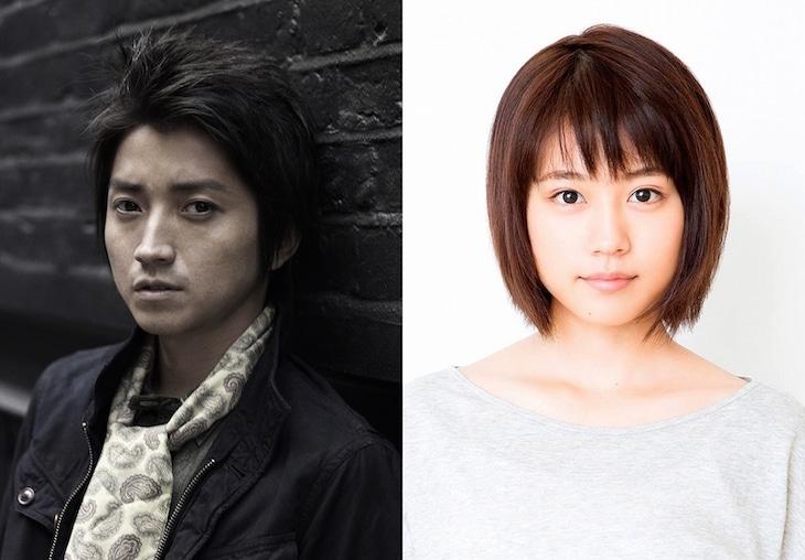 主人公・藤沼悟役の藤原竜也と、ヒロイン・片桐愛梨役の有村架純。