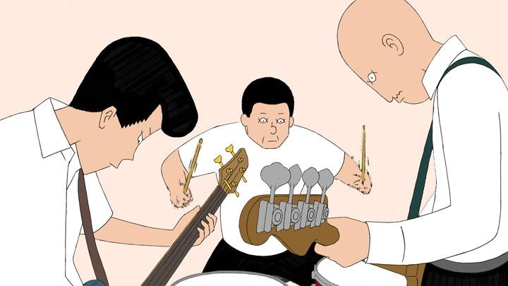 アニメ映画「音楽」の描き下ろしキャラクター画像。