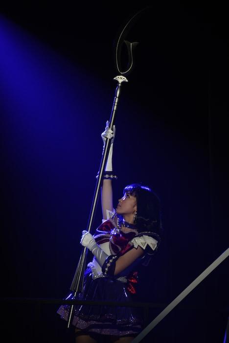 セーラーサターン役の高橋果鈴は、舞台初出演ながら堂々とした演技を見せた。