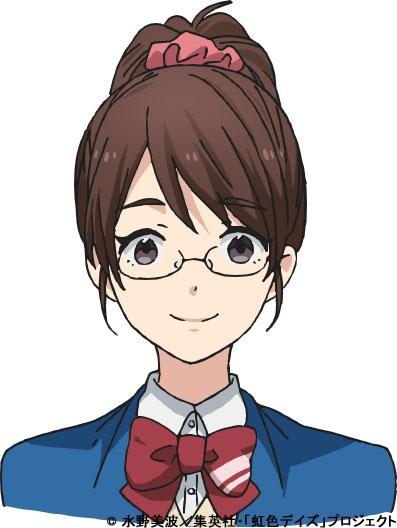 石田さんのビジュアル。(c)水野美波/集英社・「虹色デイズ」プロジェクト